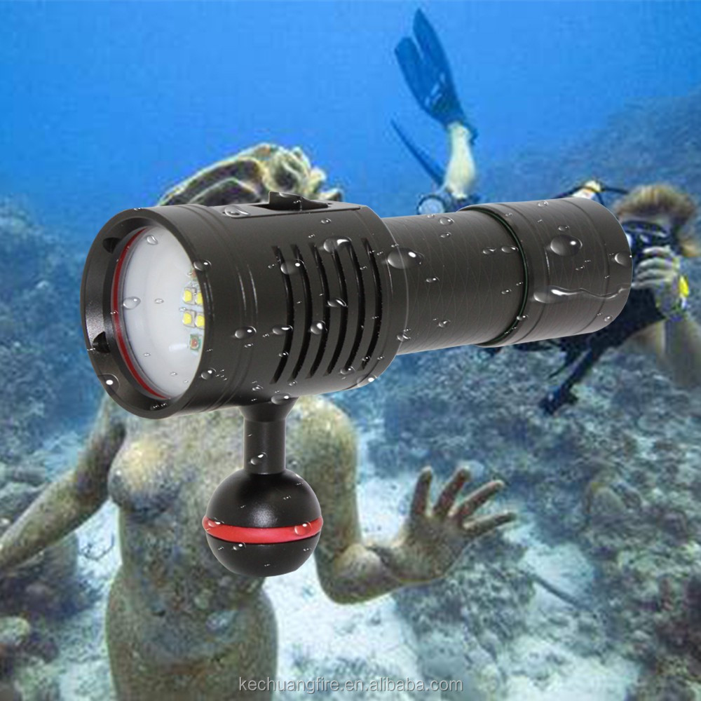 2018 Video shooting Photography Power Torch light torchlight for scuba diving