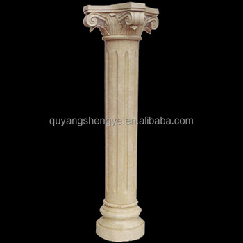 outdoor natural marble decorative pillars for sale