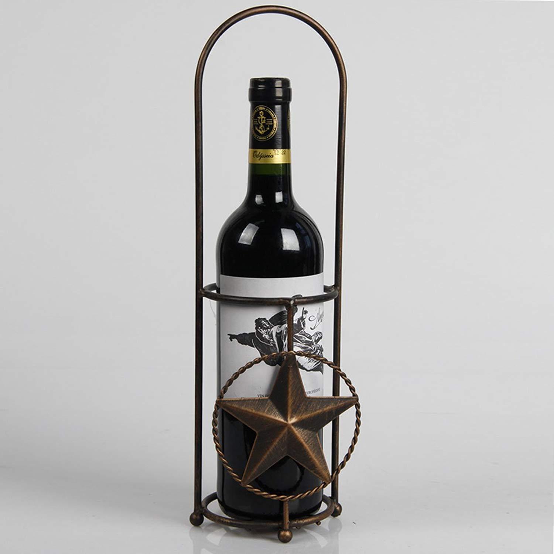 Xhsp Elegant Magic Metal Wire Wine Rack Single Bottle Holder Stand