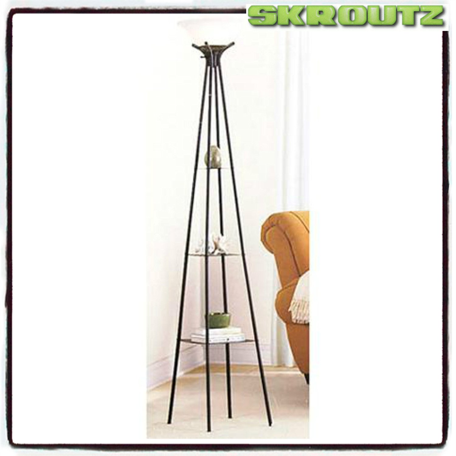 Buy Mainstays Etagere Floor Lamp With Cfl Bulb Charcoal