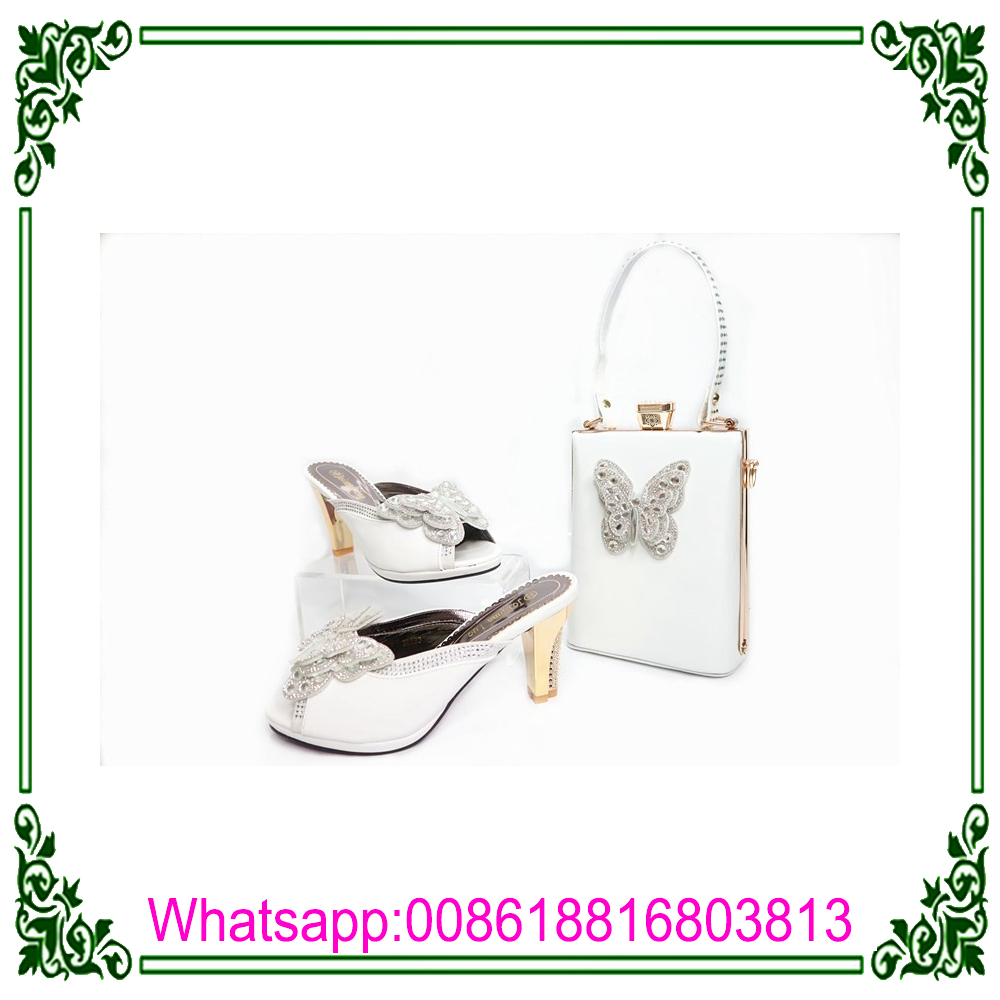Quality Bag Shoes Women Set To arrival And Set pattern New Italian butterfly Match Shoe High African Bag And qIzxwPR6R