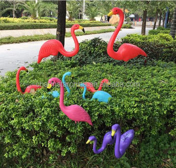 Various Colors Flamingo Lawn Ornament Yard Art Decoration