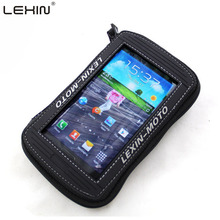 Lexin 5.5″ Black Rainproof Motorcycle Oil Fuel Tank Bag Magnetic Saddle Bag Cover for Iphone6 6plus Samsung Glaxy S3 S4 Note2 3