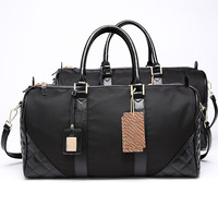 Expandable Weekend Overnight Travel Duffel Black Top Grain Leather,Mens Leather Overnight Bag