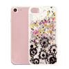High quality PC hard plastic Glitter Liquid flow phone case small black dandelions quicksand case for iphone 7 7 8 plus