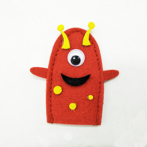 2018 customized animal toys mini plush felt finger puppet for kids