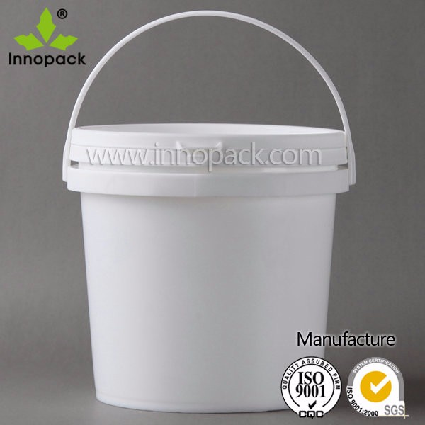 High quality and low price 4L plastic bucket with handle and lid