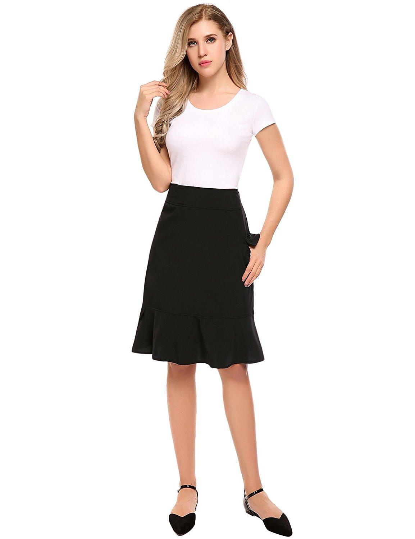 ff9ca7d414b99 Get Quotations · Shine Women's Knee-Length Yoga Running Swim Workout Skirt  UV Protection Sport Skirt