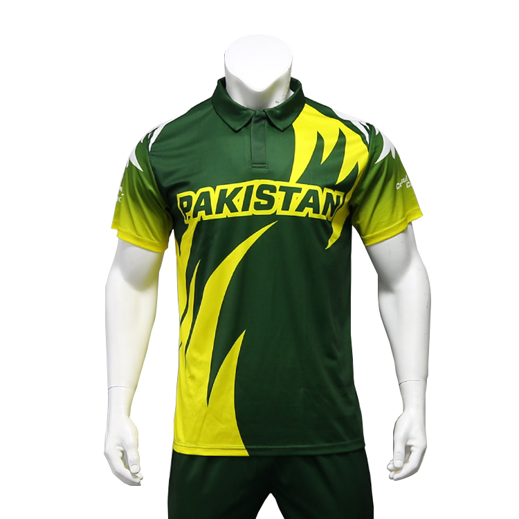 Healong Customized Pakistan Cricket Jersey 2016 New Design