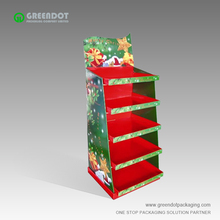 Beautiful style christmas tree cardboard display rack good quality cardboard display racks for fireworks