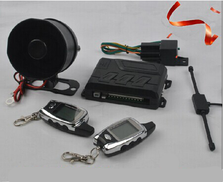 CA001TW hot car alarm system remote start engine fm two way car alarm