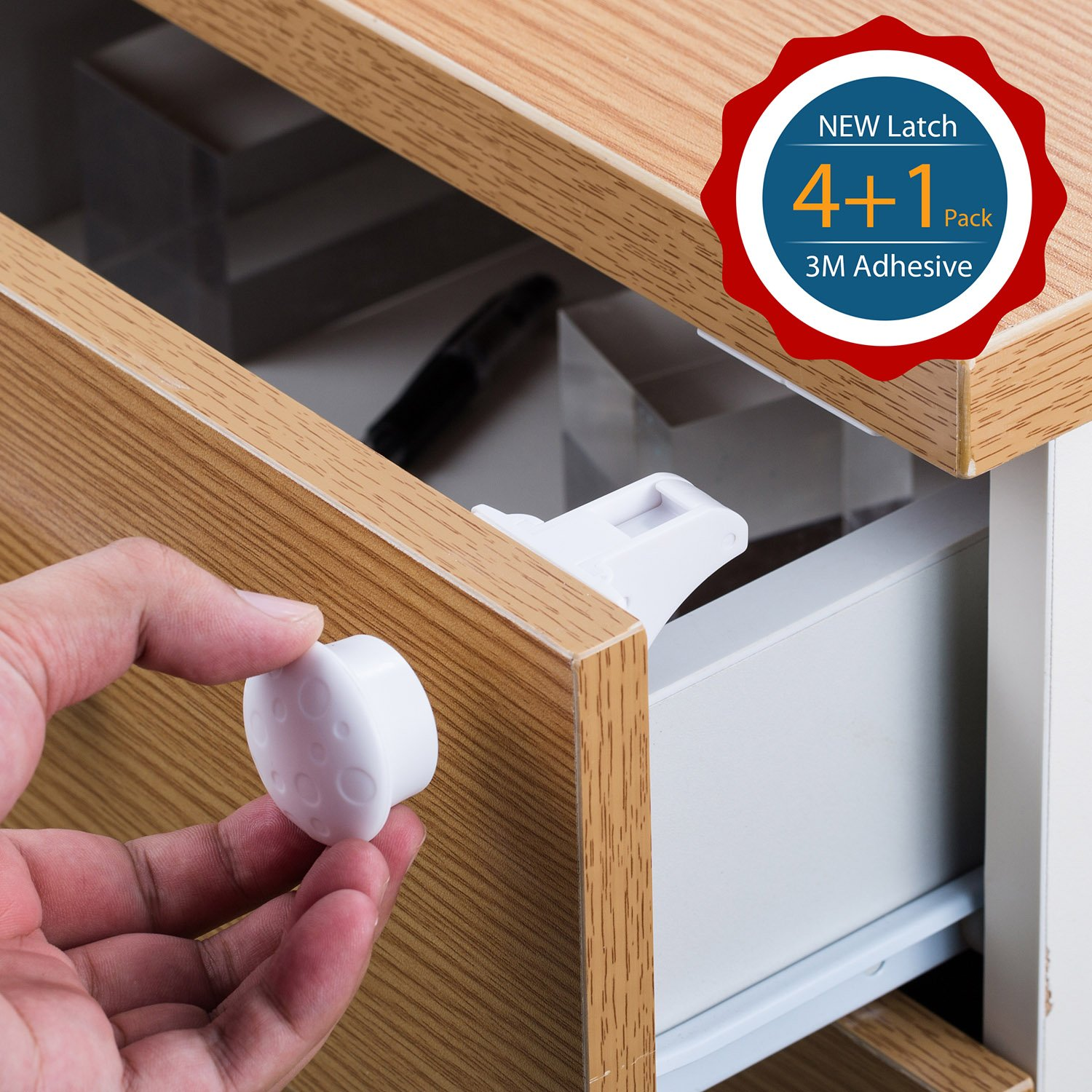 Get Quotations · Cabinet Lock, DIKI Hidden Magnetic Baby Safety Locks Self  Sticking 3M Adhesive, Easy Install