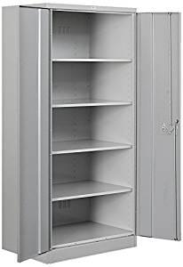 Salsbury Industries Standard Heavy Duty Storage Cabinet, 78-Inch by 18-Inch, Gray