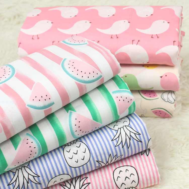 Latest design free sample bulk sale OEM floral printed fabrics 100% cotton for dress