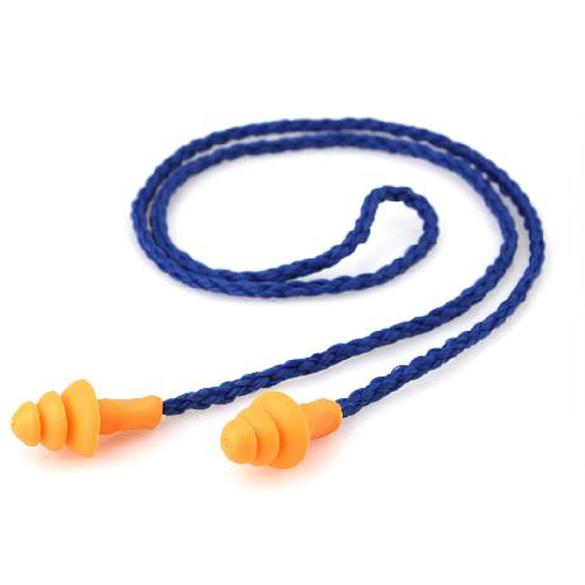 10 шт. силиконовые проводные беруши многоразовые затычки для защиты органов слуха шумоподавление затычки для ушей наушники уха протектор ARE4