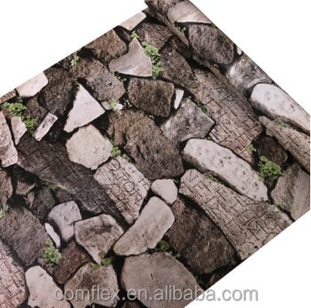 3d Natural Green Vine Stone Brick Sticker Cheap Wallpaper For Interior Wall Decoration Buy 3d Brick Wallpaper3d Natural Green Vine Stone Brick