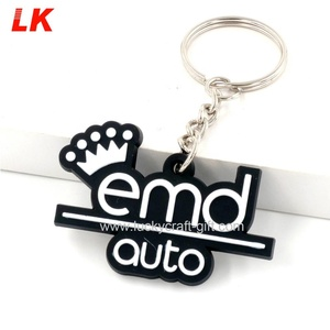 Customized cartoon character key holder soft PVC rubber keychain