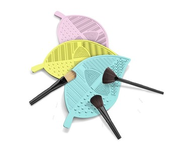Newdisgn Silicone Leaf Shape Makeup Brush Cleaning Pad