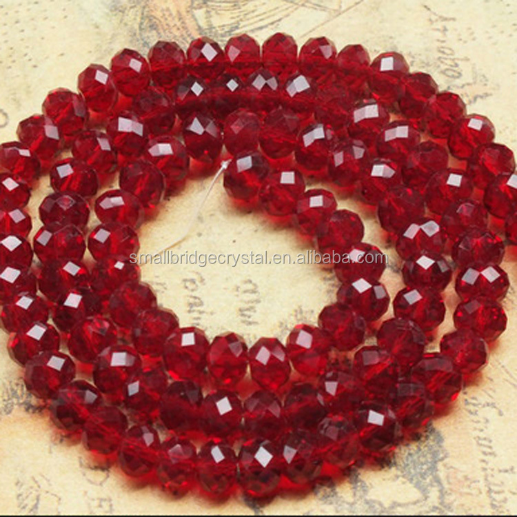 Pujiang Manufacturer Siam Color 6MM Wholesale Glass Bead Landing