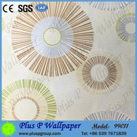 Plus P light embossing wallpaper for kitchen washable with low price
