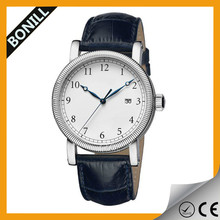 Stainless steel case interchangeable genuine leather quartz image watch price