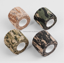 Hot selling 4.5m Outdoor Telescopic Camo Stretch fabric Bandage Camouflage casting Tape