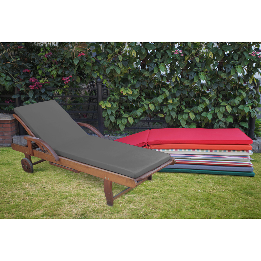 - Outdoor Patio Memory Foam Waterproof Sunbed Lounger Cushions
