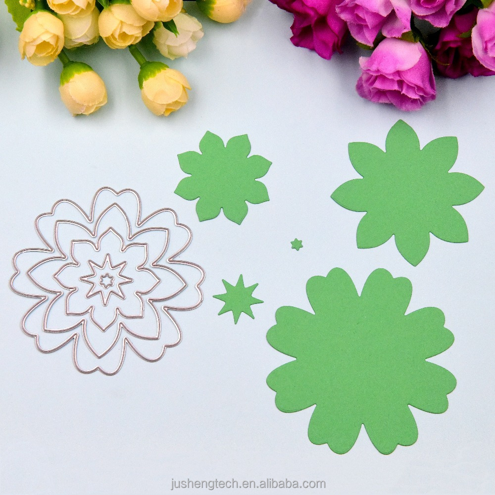 5pcs Flowers Craft Cutting Dies for Scrapbooking Craft Steel Paper Cutting Dies