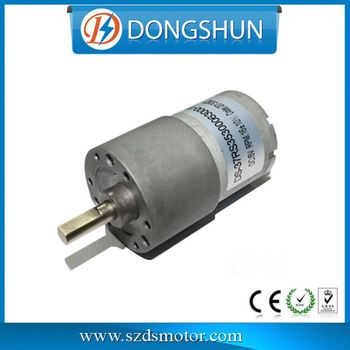 Ds 37rs3530 500 rpm 8mm shaft high torque 12v 100rpm dc for Gear motor 500 rpm