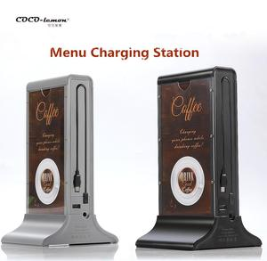 Restaurant Desktop USB Charger Public Multi Cell Mobile Phone Menu Charging Station