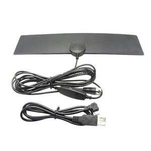 High Definition Mini Flat Digital Indoor TV Antenna 25 Mile HD dvb-t 2 TV with amplifier signal booster antenna
