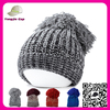 Acrylic High quality Hip Hop Beanies Knitted Beanie Custom novelty knitted hat with pom pom