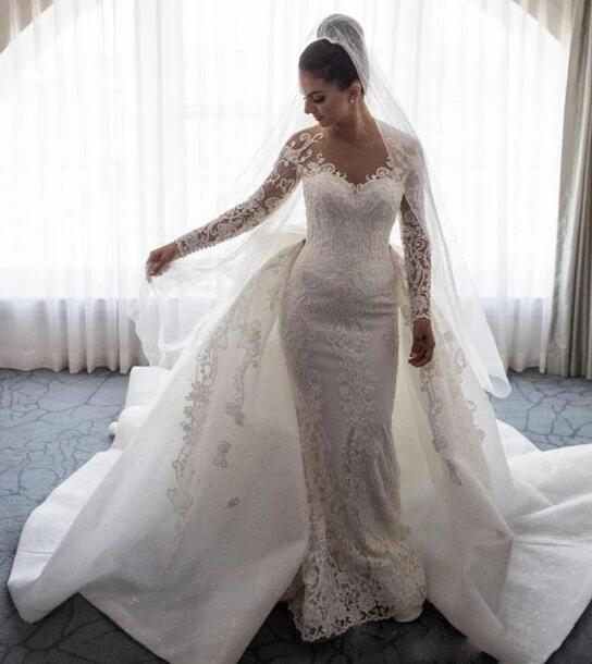 2019 Off the Shoulder Lace Appliques Ball Gown Wedding Dress Bridal Gowns