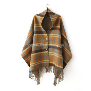 Newest Cashmere Thick Ladies Winter Shawl Ponchos Scarf