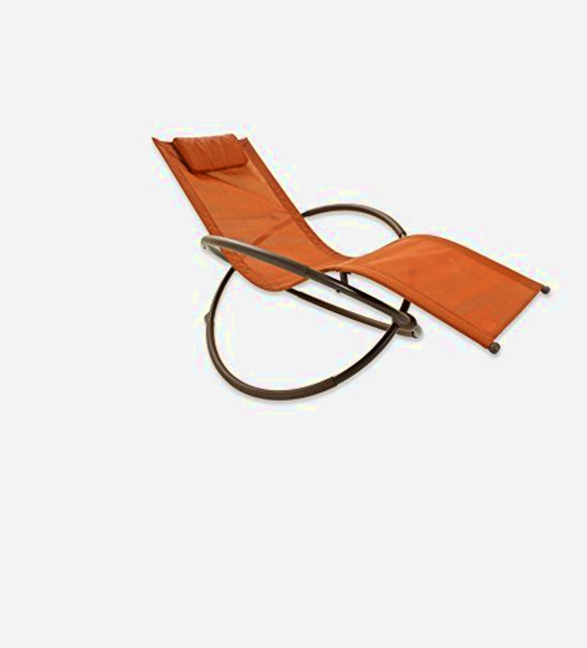 Orbit Lounge Chair, Orange Color,Innovative Shape, Steel And PVC Fabric Material, Durable And High Resistant Construction, Patio, An Attractive And Modern Design, Portable,Lounge, Easy Setup & E-Book.