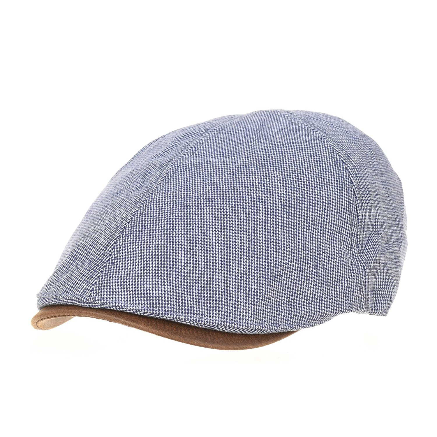 Get Quotations · WITHMOONS Trendy Houndstooth Pattern Cotton Newsboy Hat  Flat Cap SL3245 ecdffe8c36ce