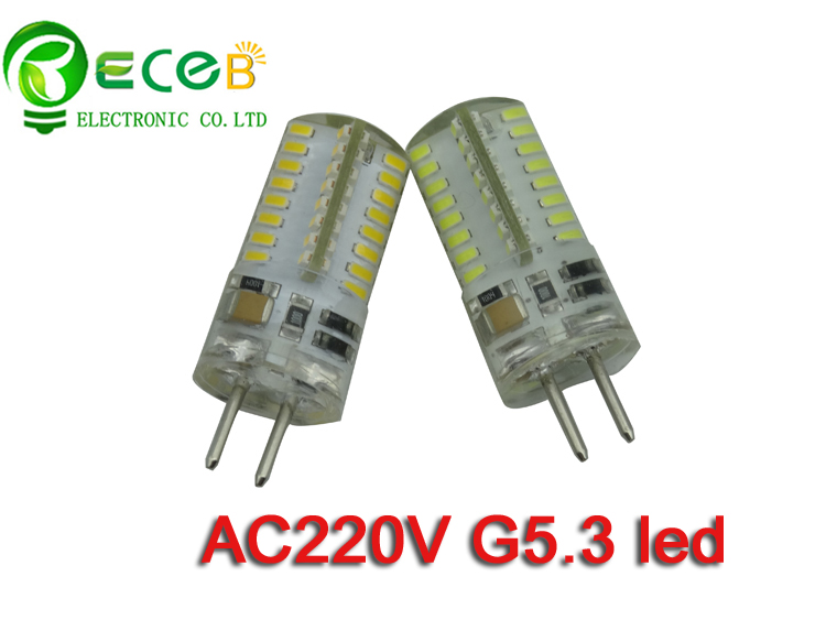 high voltage ac220 240v g5 3 led bulb smd3014 64pcs replace halogen lamp thick pin 2years. Black Bedroom Furniture Sets. Home Design Ideas