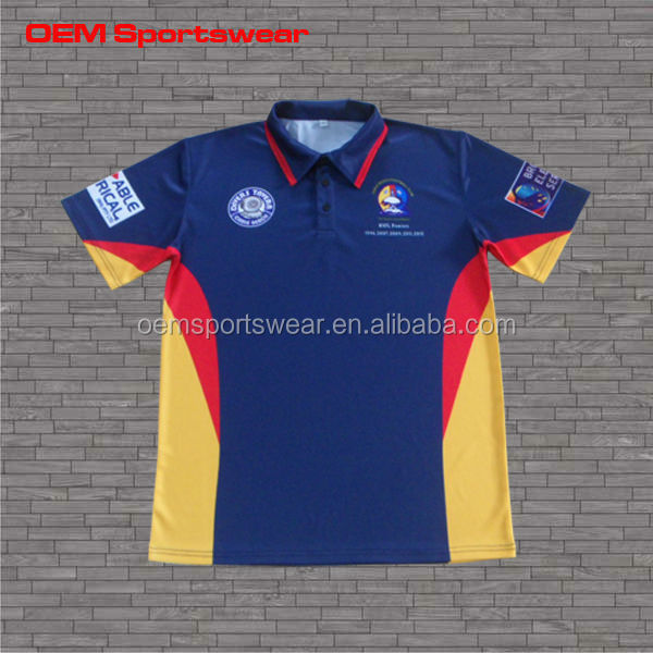 Mens nice color sublimation cricket shirt