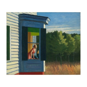 Free Shipping Edward Hopper Giclee Canvas Print Paintings Poster Reproduction Fine Art Wall Decor(Cape Cod Morning)