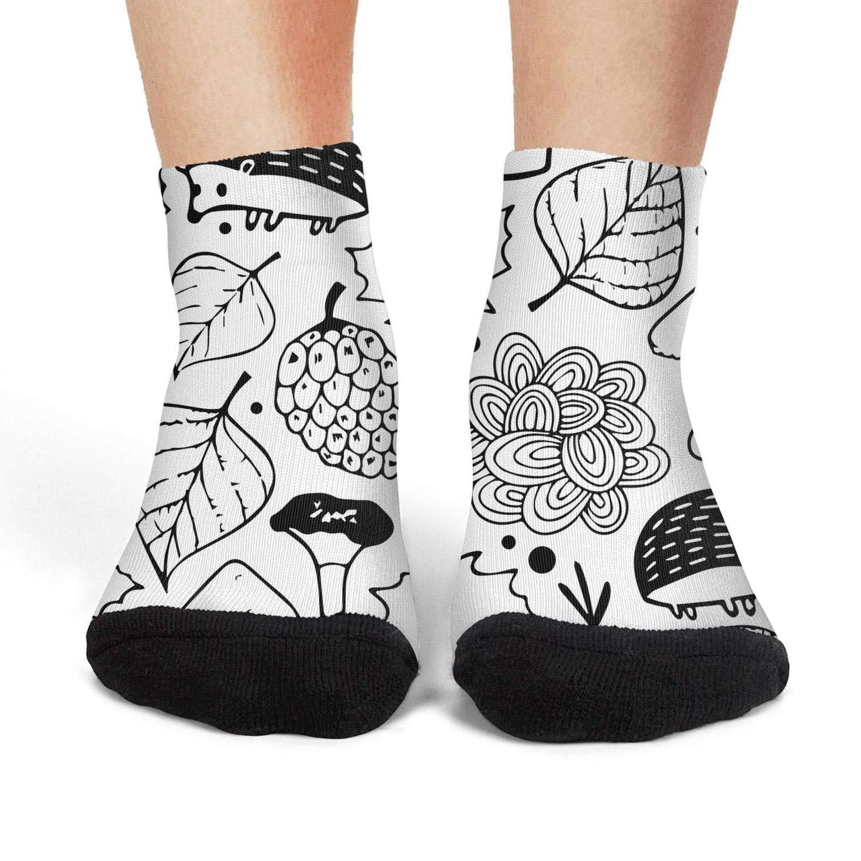 XIdan-die Womens Over-the-Calf Tube Socks Summer Green Leaf Painting Moisture Wicking Casual Socks
