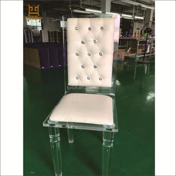 Clear Import Wedding Furniture Modern Dining Chair With Velvet Fabric