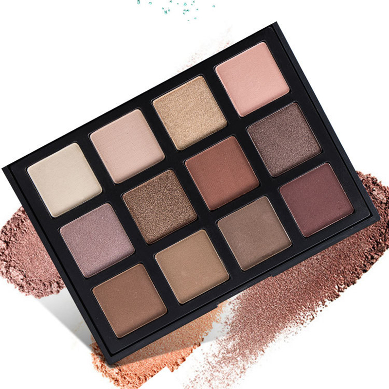 <strong>Cosmetics</strong> Private <strong>Cosmetic</strong> Makeup Eye Shadow 12 Color Eyeshadow Palette OEM/ ODM shimmer Matte