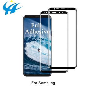 perfect stick! low price anti fingerprint 5d tempered glass for samsung s8 s9 note8 note9 free shipping sample