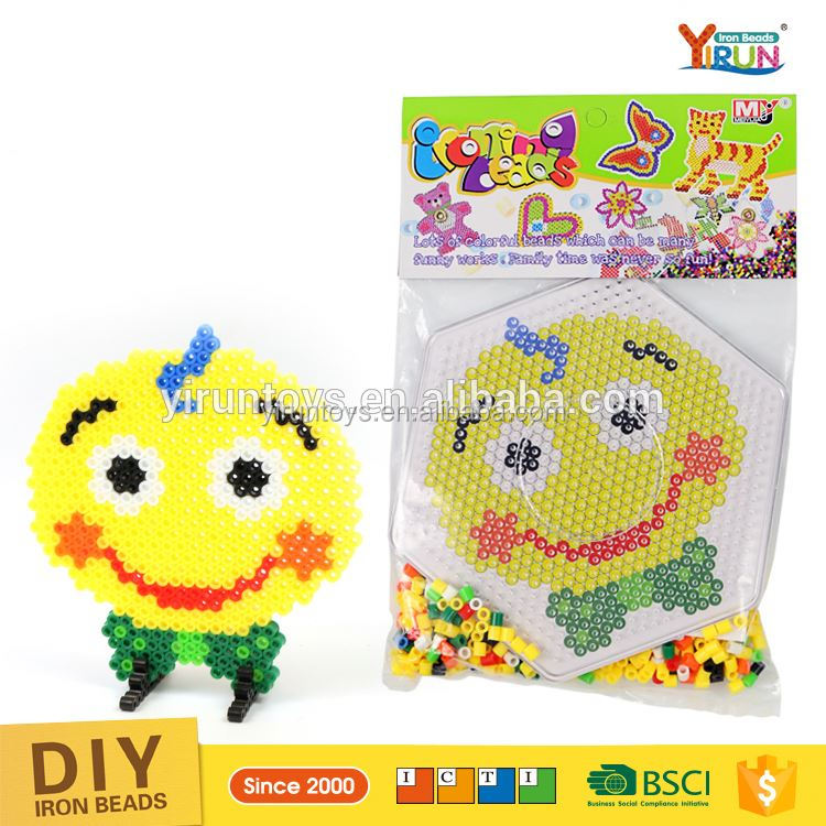 Eco-friendly hama perler beads Creation Cheap Fashion pattern Perler Beads diy kids crafts