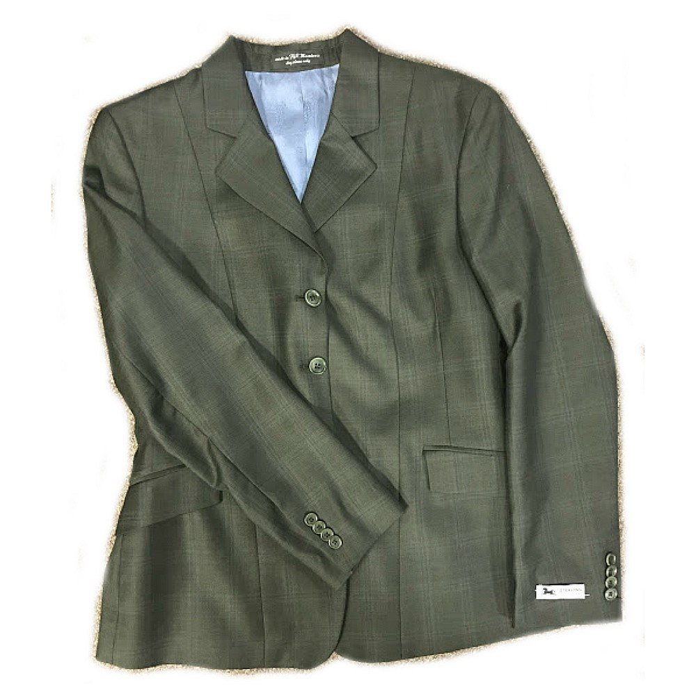 eaf9e0461fa8a Get Quotations · RJ Classics Sterling Collection Delmar Ladies Hunt Coat  Forest Green With Blue