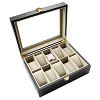 Zenper 10 Slot Cheap Personalized Men Storage Boxes Watches Wholesale Retail Custom Wrist Luxury Single Nature Wooden Watch Box