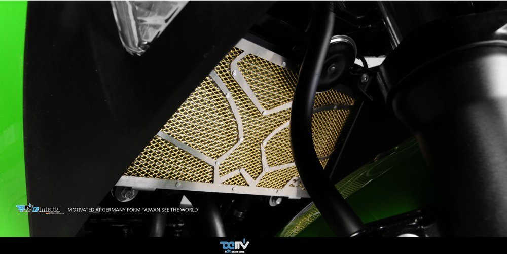 Dimotiv DMV Special Radiator Protective Cover for Kawasaki ZX250R 2008-12, ZX300R 13-15 NEW ZX250R 13-15 Gold