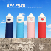 2017 Folding Silicone Bpa Free Water Bottles Outdoor Sport Water Kettle,Sports Water Bottle For Traveling