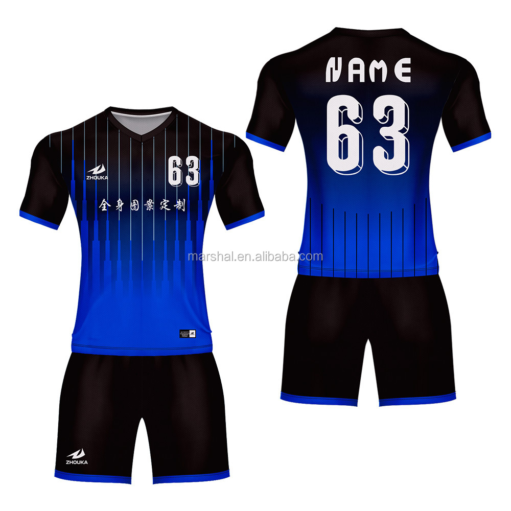 da182d20041 Wholesale Sports Wear Kits New Sublimation Custom Football Jersey ...