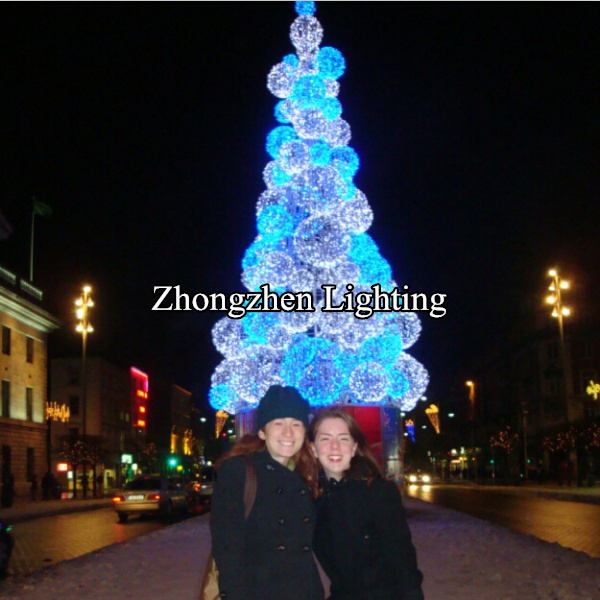 commercial grade 2015 outdoor big pvc lighted christmas tree for plaza - Commercial Grade Outdoor Christmas Decorations